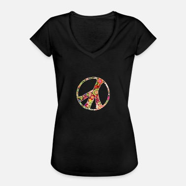 Flower Power Blumenkind Peace Flower Power Symbol Hippie Blumenkind - Frauen Vintage T-Shirt