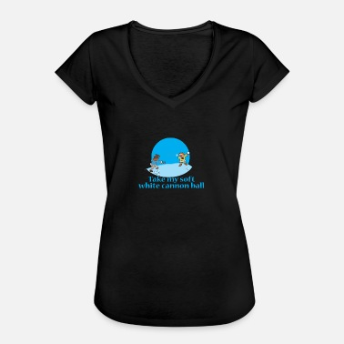Snowballs Children Snowball Sledding Snow Snowballing - Women's Vintage T-Shirt