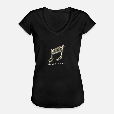 Music Is Life Equalizer Equalizer Music Soundbeats Rhytmus Music Life - Women's Vintage T-Shirt