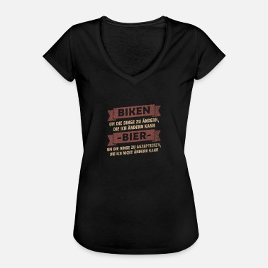 Gt Bicycles MTB> Mountain biking + Beer drinking - Women's Vintage T-Shirt