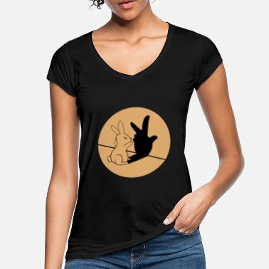 Cool Funny bunny retro easter gift idea - Women's Vintage T-Shirt