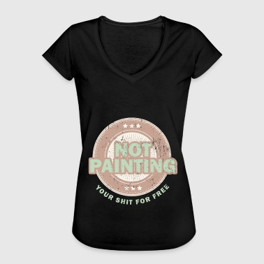 Oil Painting Illumination oil painting court painter gift - Women's Vintage T-Shirt