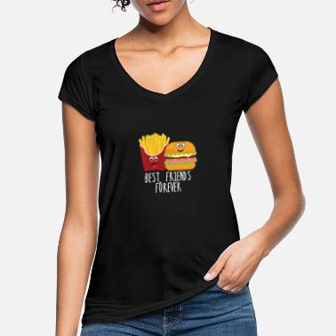 Burger Pommes und Burger Best friends forever - Frauen Vintage T-Shirt