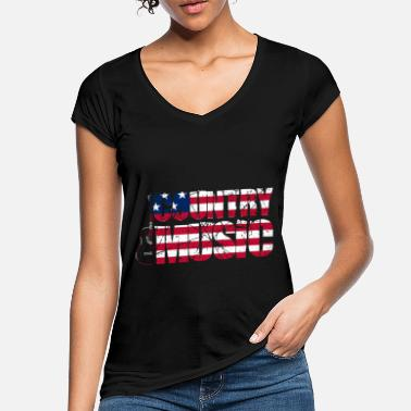 Country Country music USA vintage guitar - Women's Vintage T-Shirt