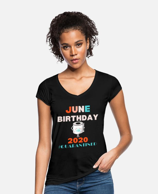 02 T-Shirts - June 2002 June 18th birthday gift - Women's Vintage T-Shirt black
