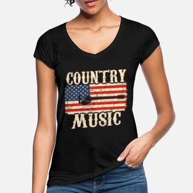 Country Country music guitar - Women's Vintage T-Shirt