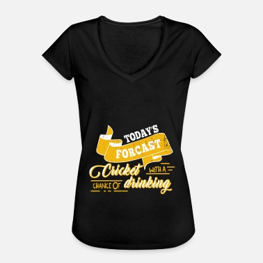 Ballet Cricket Beer Funny Gift Cricket Player Ball - Dame vintage T-shirt
