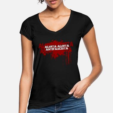 Antifascistiske ALERTA ANTIFASCISTA - Vintage T-shirt dame