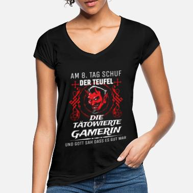 Devil Tattoo The tattooed gamer created by the devil - Women's Vintage T-Shirt
