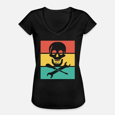 Mechanical Skull Mechanic Skull - Women's Vintage T-Shirt