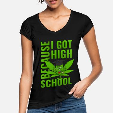 High School High School High School di Cannabis Leaf High School 2019 - Maglietta vintage donna