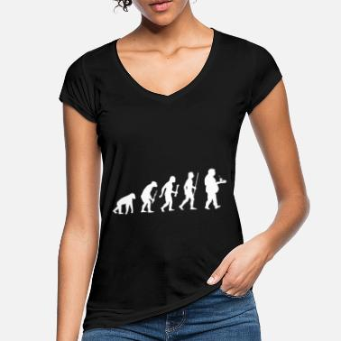Belly Fats overweight beer belly evolution - Women's Vintage T-Shirt