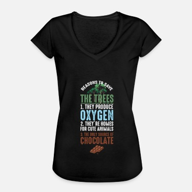 Biosphere Reasons To Save The Trees Environmental Ecosystem Nature Lovers Gifts - Women's Vintage T-Shirt
