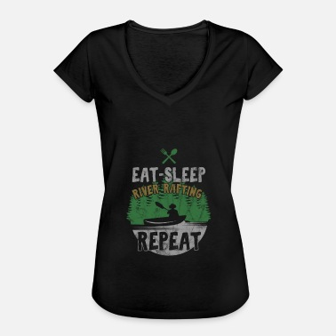 River Rafting Eat Sleep River Rafting Awesome Rafter Gifts Raft - Women's Vintage T-Shirt