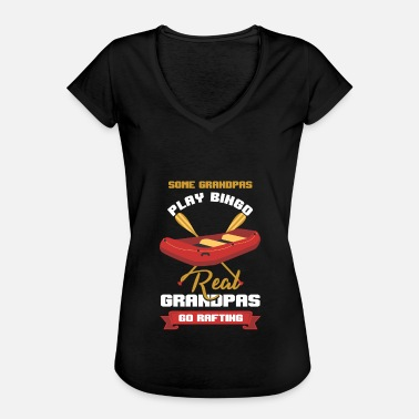 River Rafting Real Grandpas Go Rafting Raft Rafter Paddle River - Women's Vintage T-Shirt