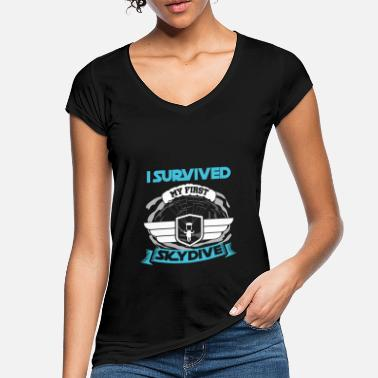 I Survived My First Skydive Extreme Sports - Women's Vintage T-Shirt