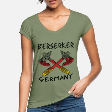 Axe Berserk Viking Germane Nordmann battle ax - Women's Vintage T-Shirt