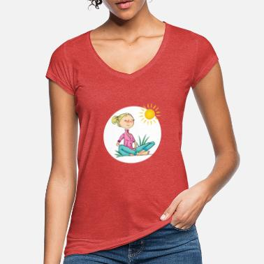 Chica Chica, relajarse y sol - Camiseta vintage mujer