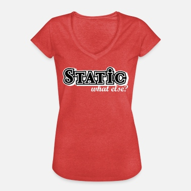 Chassis Static what else - car tuning gift idea, black - Women's Vintage T-Shirt