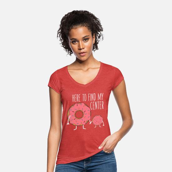 Funny T-Shirts - Funny Yoga | Funny saying | gift idea - Women's Vintage T-Shirt heather red