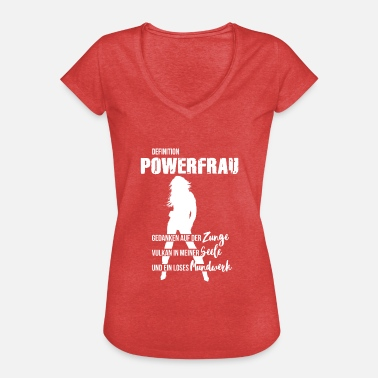 Powerfrau Frauenpower Powerfrau - Frauen Vintage T-Shirt
