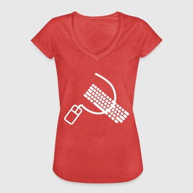 Mouse and keyboard like hammer and sickle - Women's Vintage T-Shirt