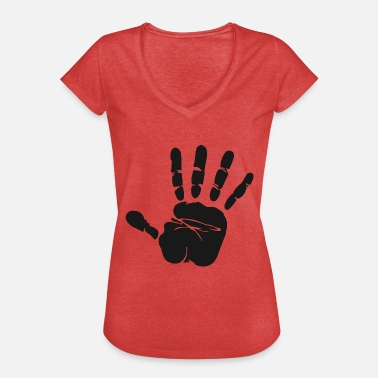 Handprints handprint - Women's Vintage T-Shirt