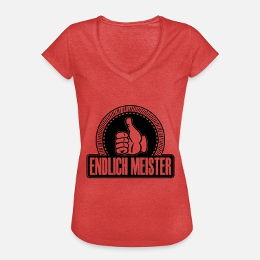 Finally masters thumbs up - Women's Vintage T-Shirt