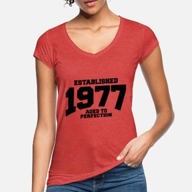 Aged aged to perfection established 1977 (de) - Frauen Vintage T-Shirt