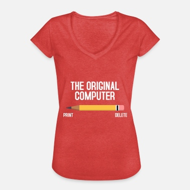 Computers computer - Vrouwen Vintage T-shirt