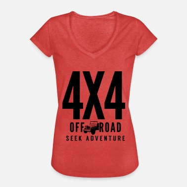 02185d92b5 4x4 Off Road 4x4 Jeep Seek Adventure - Camiseta vintage mujer