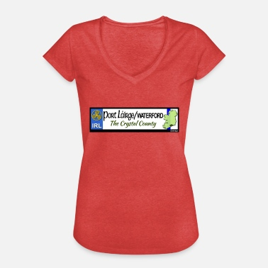 Decals WATERFORD, IRELAND: licence plate tag style decal - Women's Vintage T-Shirt