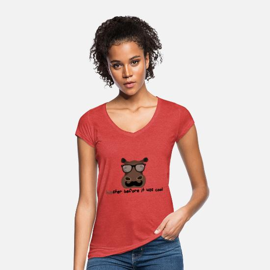 Hipster T-Shirts - hipster - Women's Vintage T-Shirt heather red