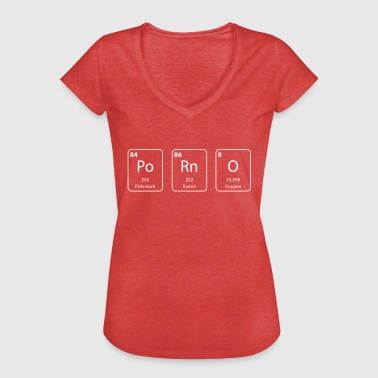 porno periodic table element - Vrouwen Vintage T-shirt