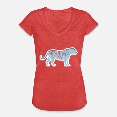 Killer Pictogram A Tiger-hunting - Women's Vintage T-Shirt