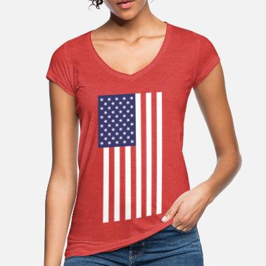 Stars And Stripes USA America Flag Patriot Stars and Stripes - Women's Vintage T-Shirt