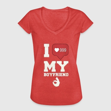 I Love You My Boyfriend I love my boyfriend - Women's Vintage T-Shirt