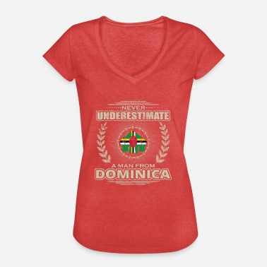 Dominica Vintage Never Underestimate Man DOMINICA png - Women's Vintage T-Shirt