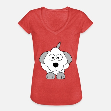 Hund Comic - Frauen Vintage T-Shirt
