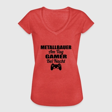 Metallbauer Gambling on the day gamer night lol METALLBAUER png - Women's Vintage T-Shirt