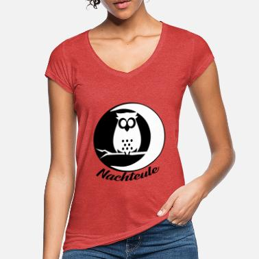 Night Owl Night owl owl owl bird night - Women's Vintage T-Shirt