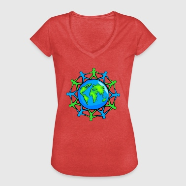 Community World Community - Vintage-T-skjorte for kvinner