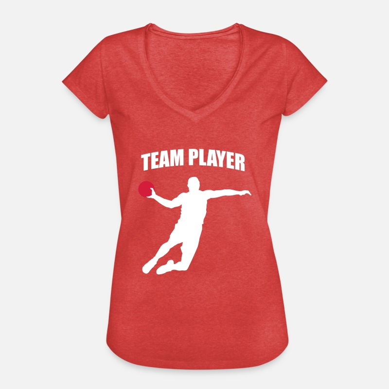 Handball Player T-Shirts - Team Player - Handball Player - Handballer - Women's Vintage T-Shirt heather red