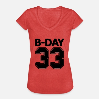 Special Number 33rd birthday bday 33 number numbers jersey number - Women's Vintage T-Shirt