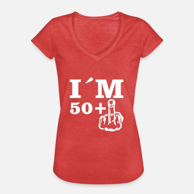 50 Plus Gift Birthday Im 50 plus 1 - Women's Vintage T-Shirt