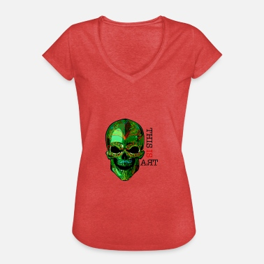 Contemporary-art Skull This is ART - Women's Vintage T-Shirt