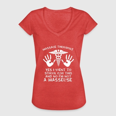 Massage Therapy Hands Physio Gift - Women's Vintage T-Shirt