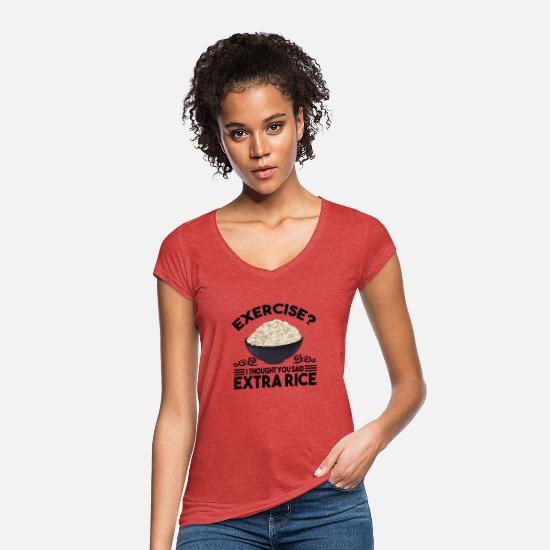 Meal T-Shirts - Exercise - Women's Vintage T-Shirt heather red