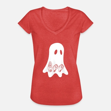 Sign Language BOO ASL Sign Language - Frauen Vintage T-Shirt