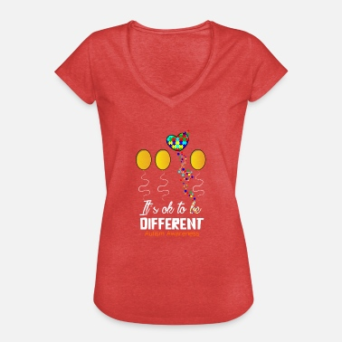 Children Accept Autism and Autistic Children - Women's Vintage T-Shirt